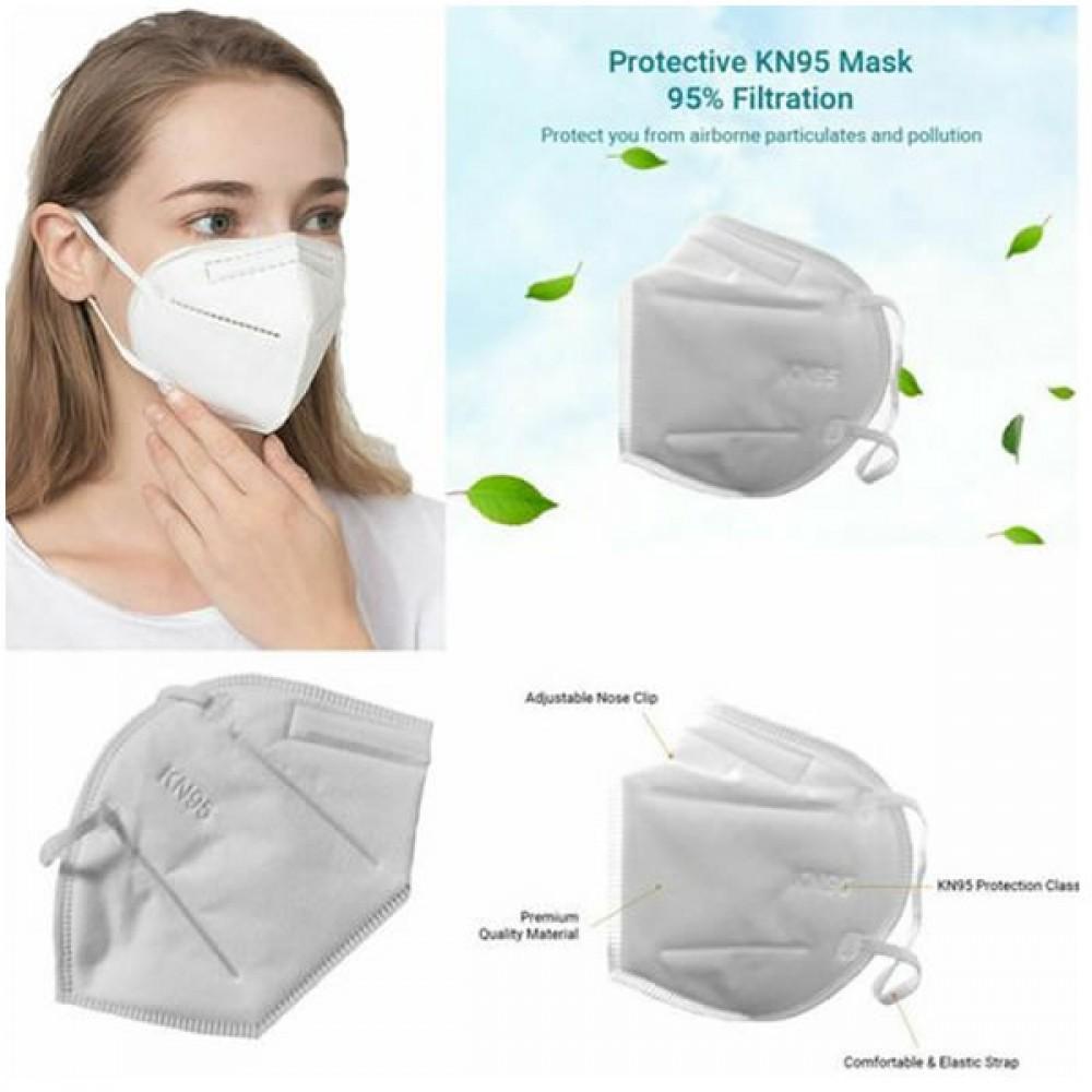 ΚΝ95 Μάσκα Προστασίας FFP2  Λευκή