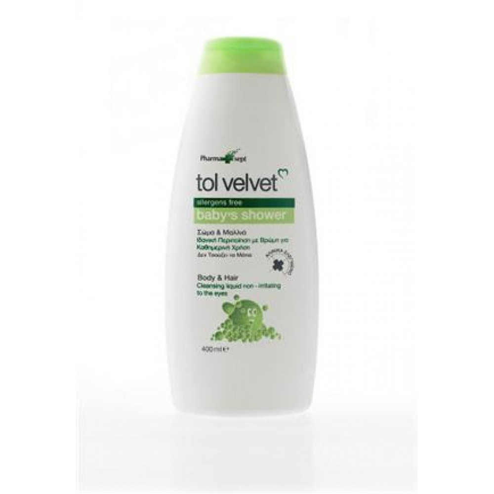 PharmaSept - Tol Velvet Baby Bath 2in1 400ml Ερεθισμοί-Κοκκινίλες-Ξηροδερμία
