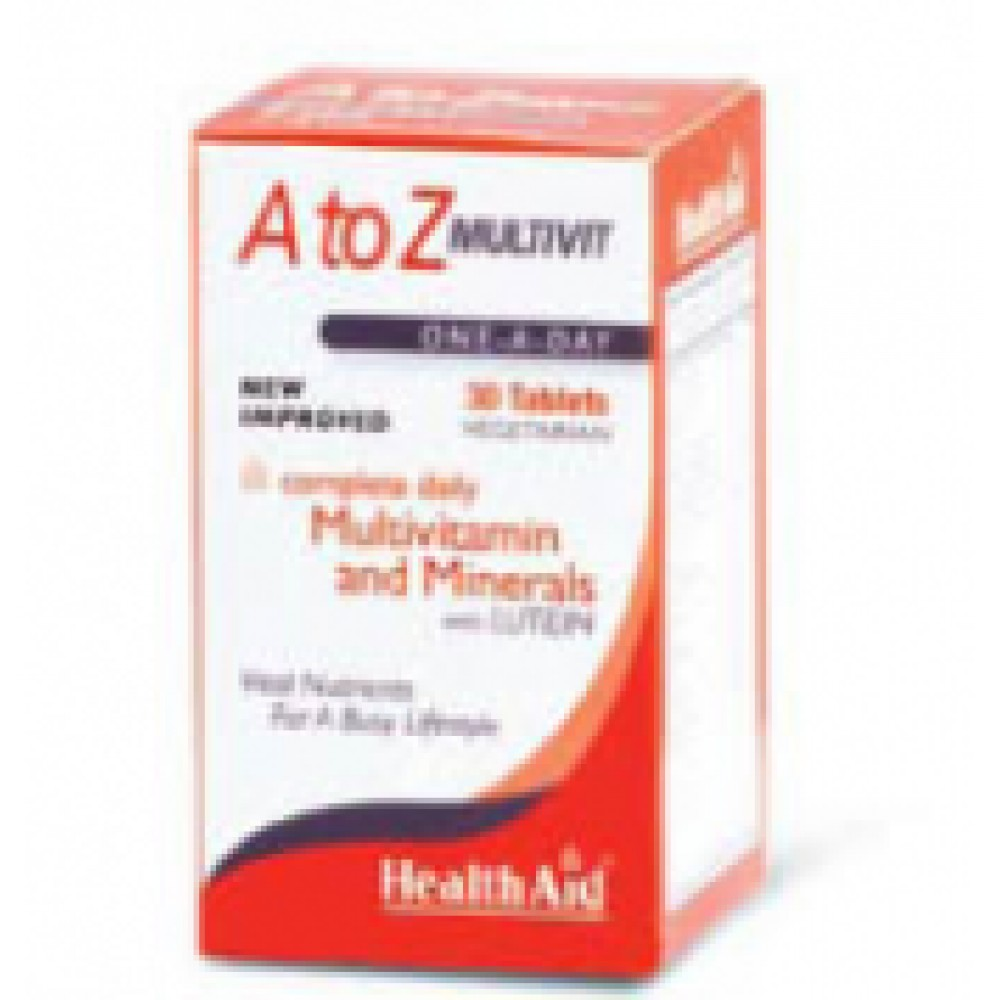 Health aid - A To Z Multivit Lutein, 30 ταμπλέτες