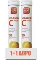 Nutralead 1+1 Δώρο Αναβράζουσα Vitamin C 1000mg, 2 x 20eff. tabs